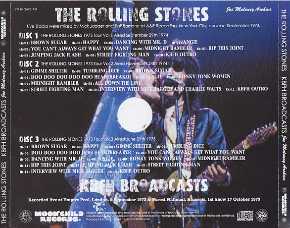 Rolling Stones / KBFH Brodcasts / 3CD – GiGinJapan