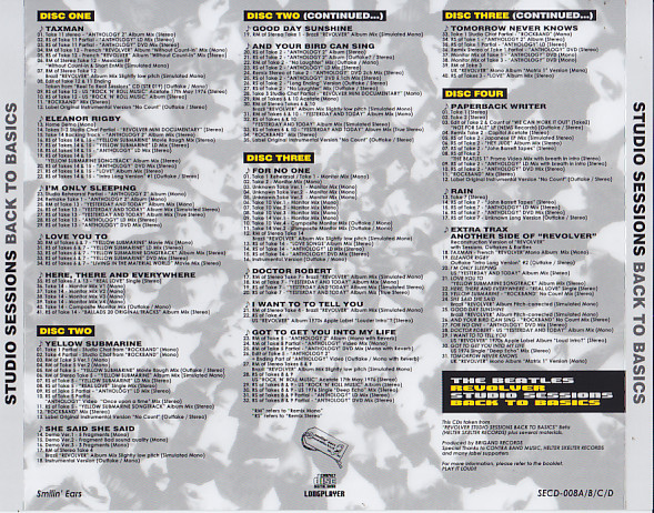 Beatles / Revolver Studio Sessions Back To Basics / 4CD+2Bonus CDR