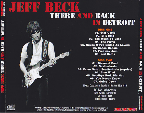 jeff beck there and back in detroit 2cdr giginjapan