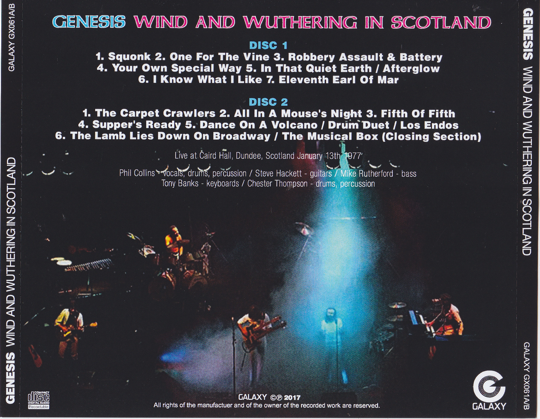 Genesis / Wind And Wuthering In Scotland / 2CDR – GiGinJapan
