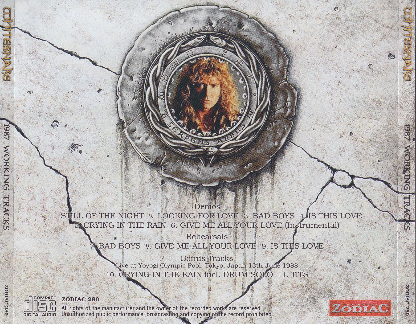 Whitesnake / 1987 Working Tracks / 1CD+1Bonus DVDR ...