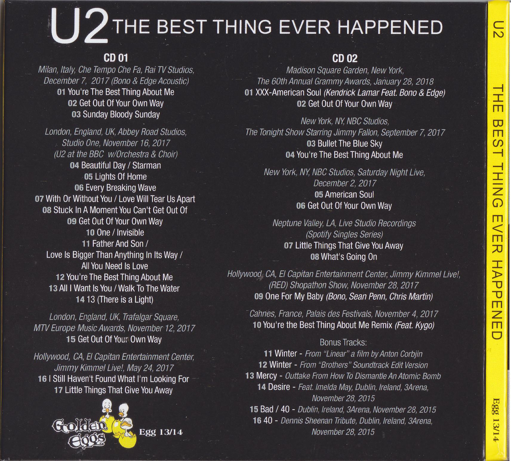 U2 The Best Thing Ever Happened 2cd Digipak Giginjapan