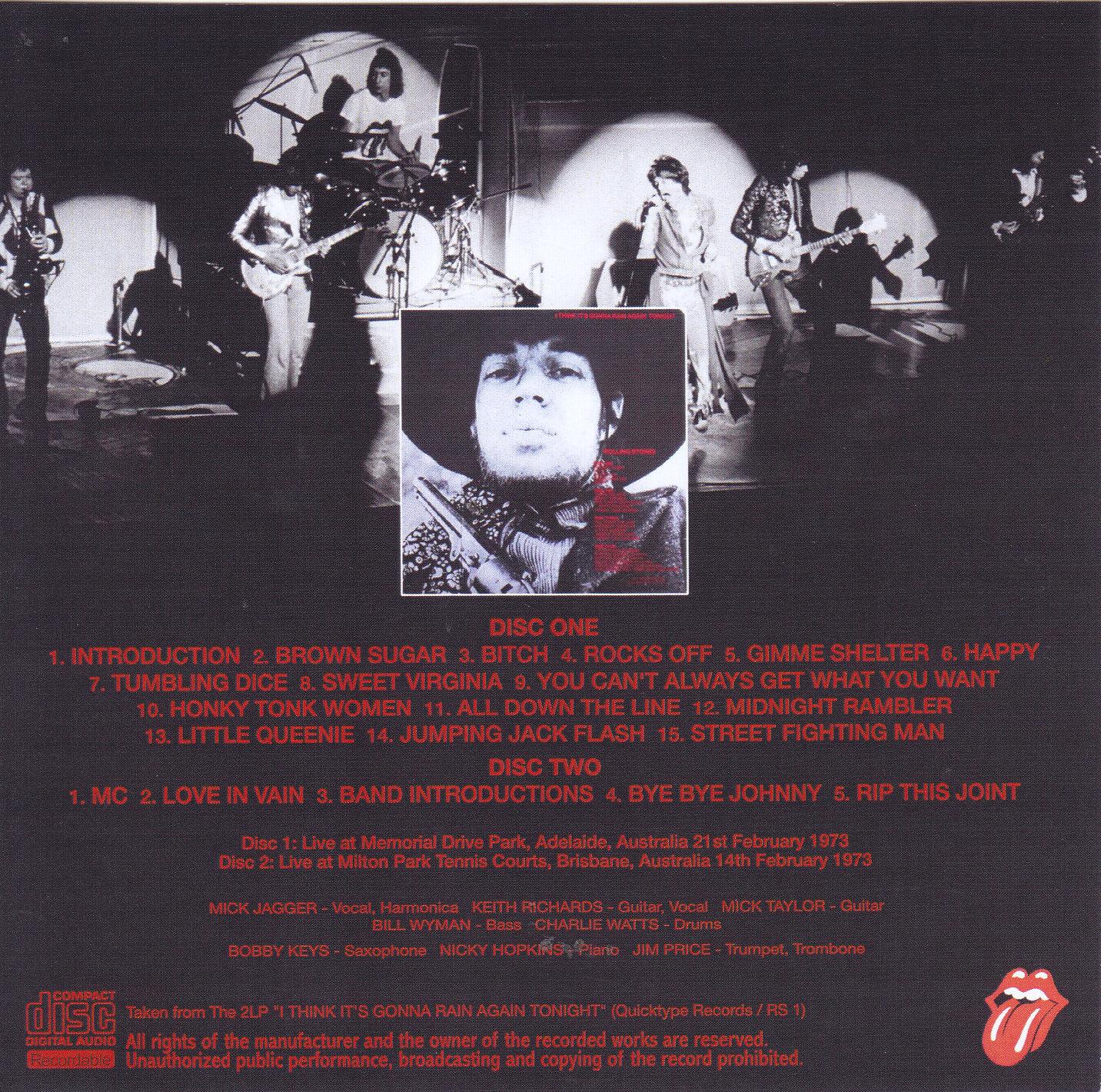Rolling Stones / I Think Its Gonna Rain Again Tonight / 2CDR