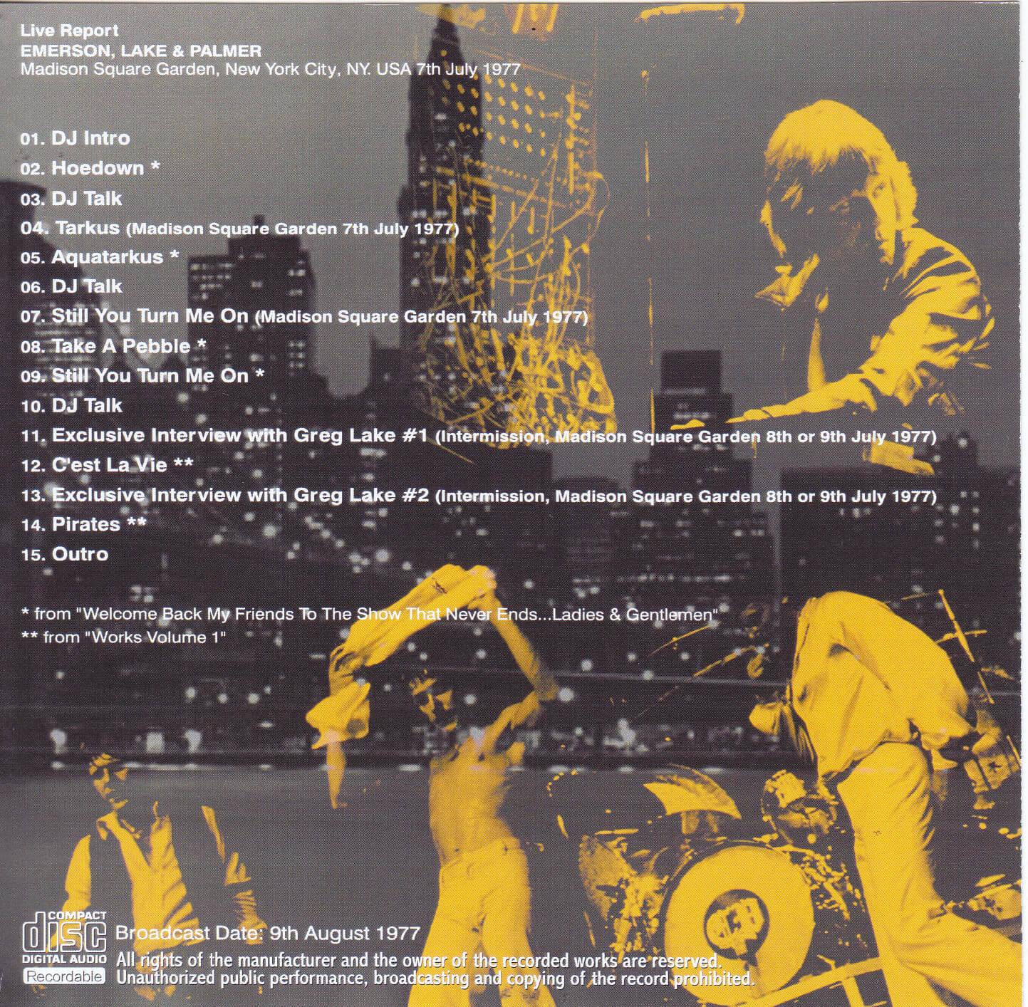 Madison Square Garden: Emerson Lake & Palmer / Young Jockey New York Report #2