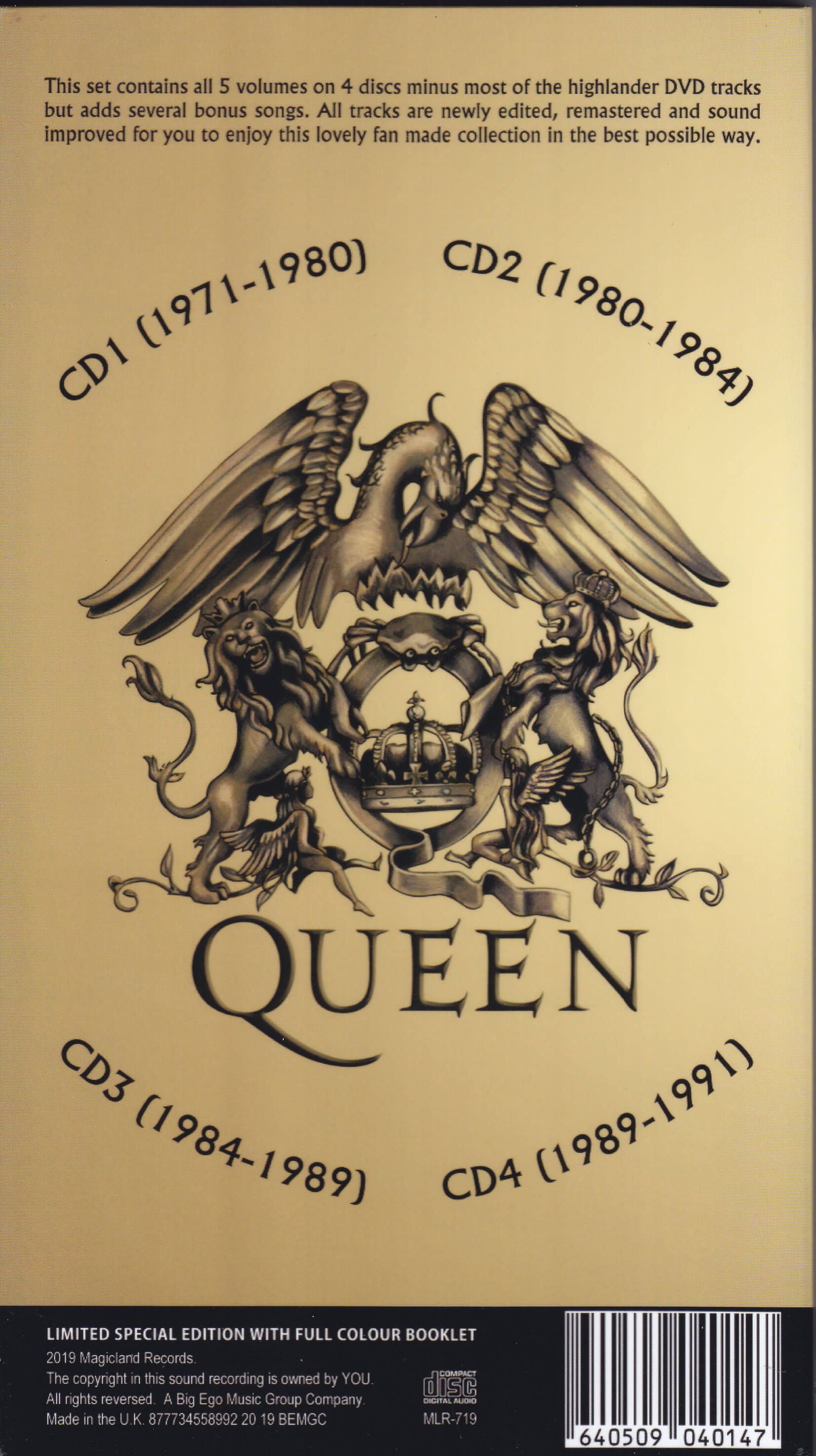 Queen / The Vaults Demos And Rare Stuff 1971-1991 / 4CD Long Box