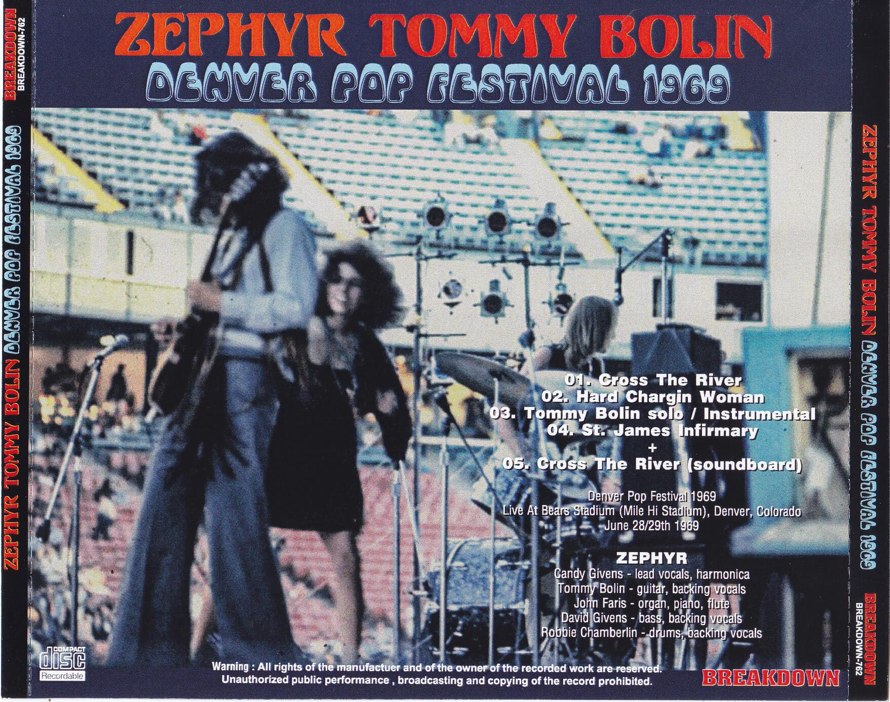 Zephyr Tommy Bolin / Denver Pop Festival 1969 / 1CDR