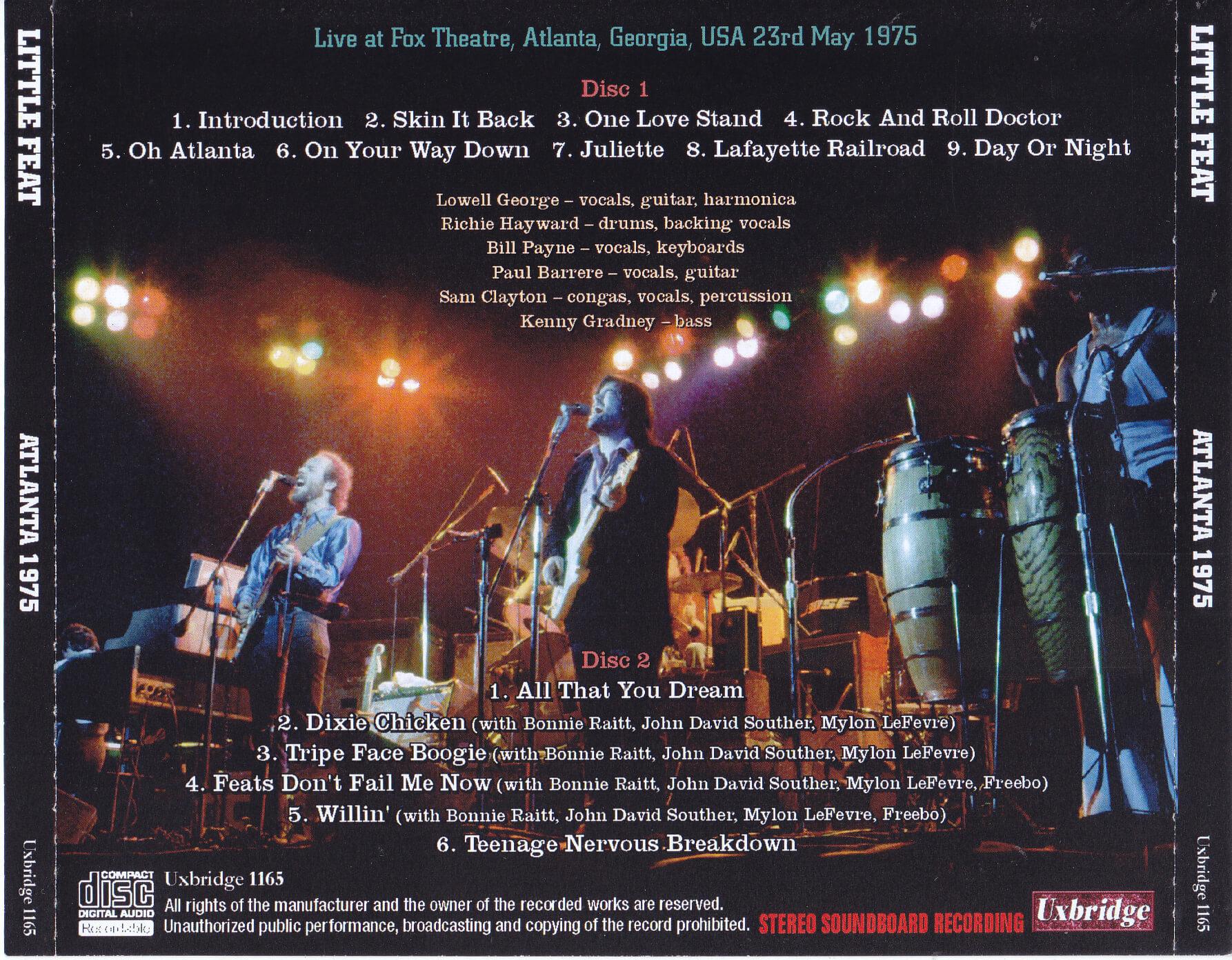 Little Feat / Atlanta 1975 / 2CDR