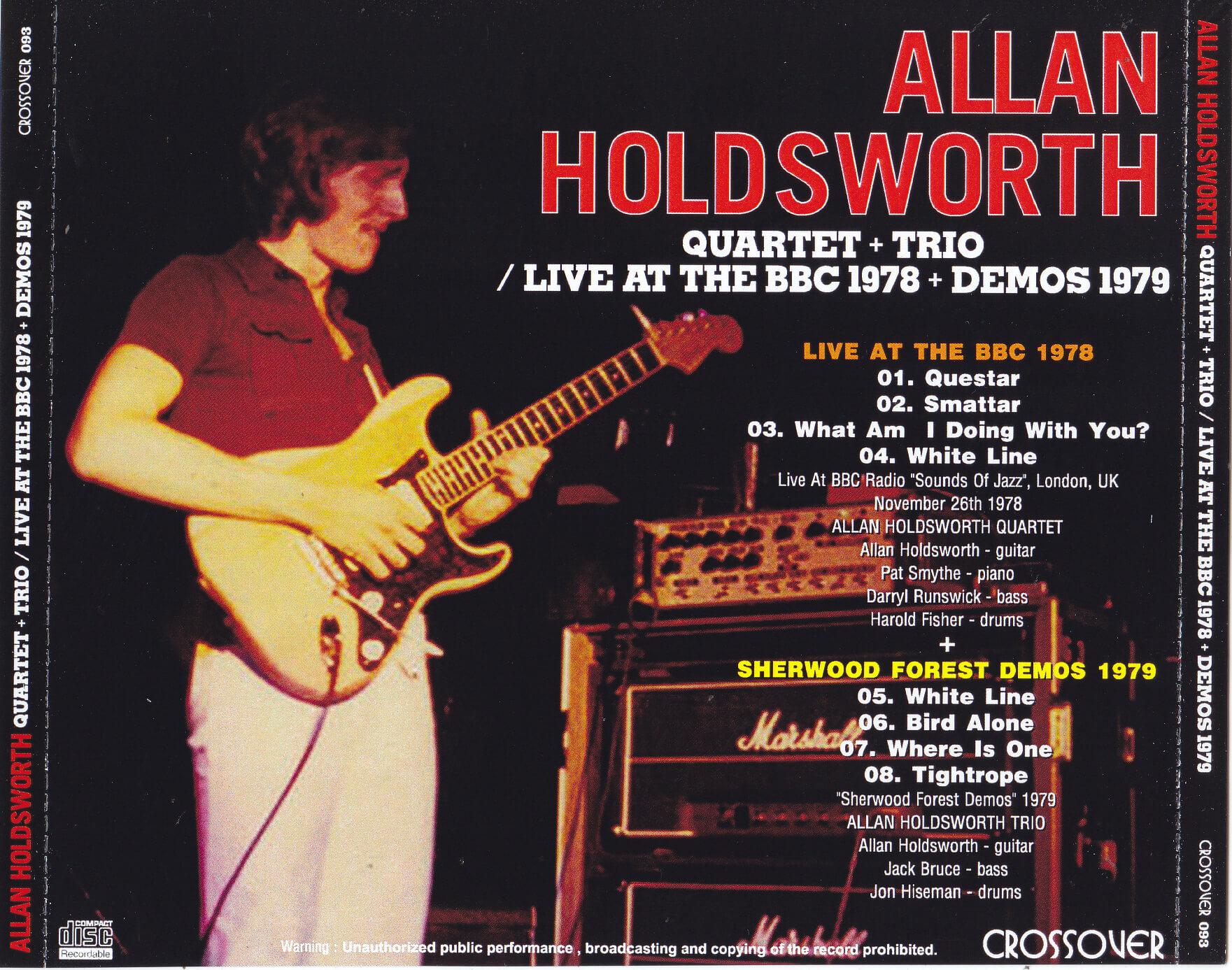 Allan Holdsworth Quartet Trio Live At The Bbc 1978